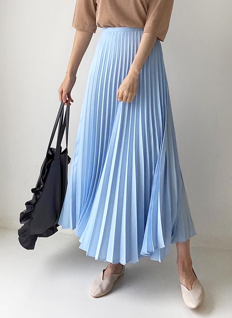 ベルトプリーツスカート・全3色