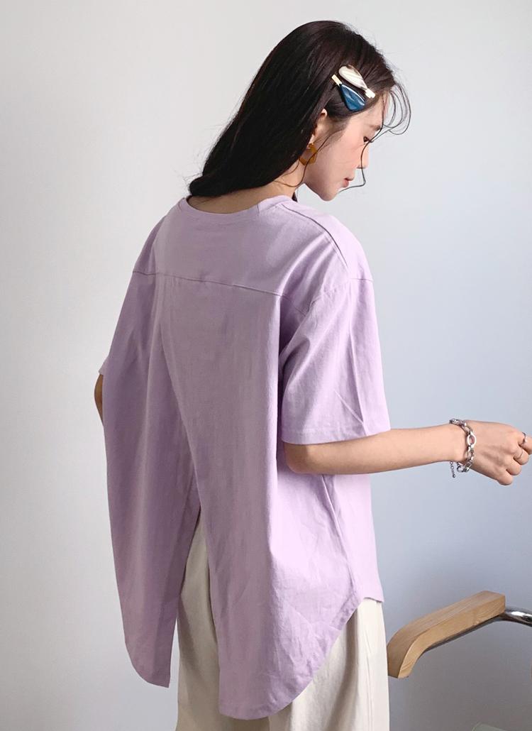 バックスリットTシャツ・全3色