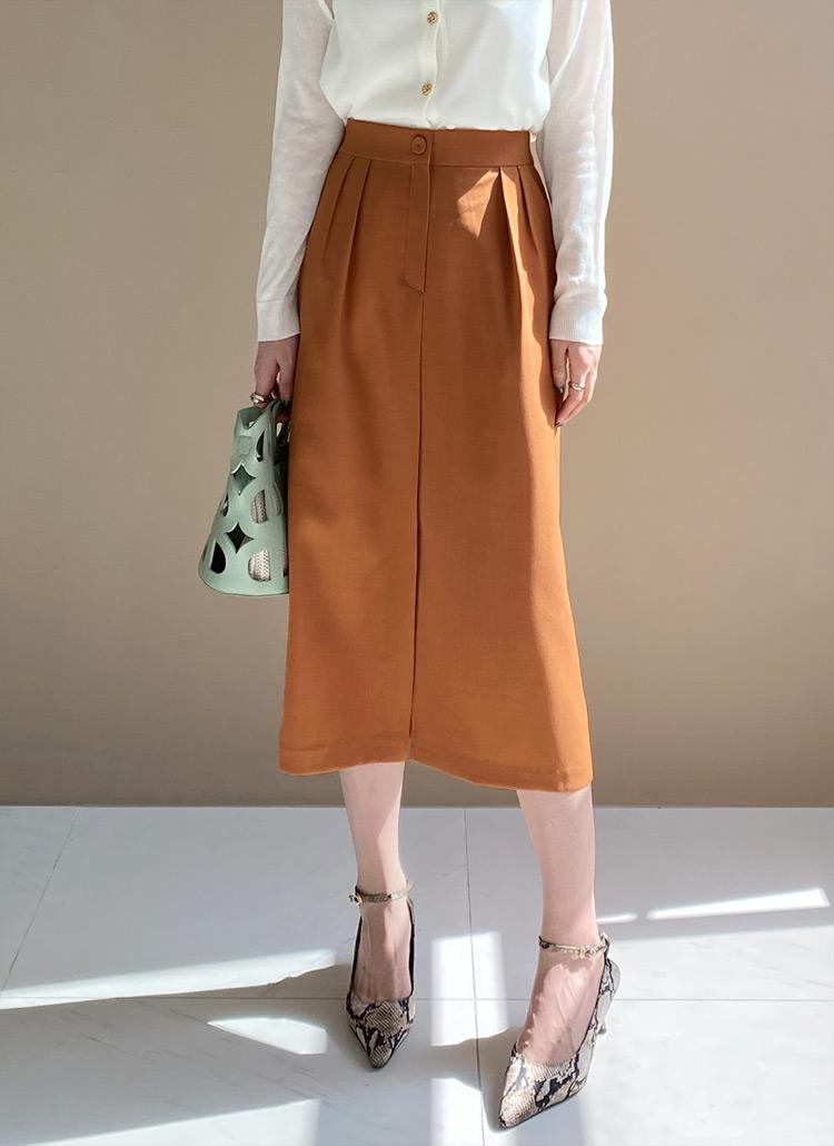 タックスリットロングスカート・全3色