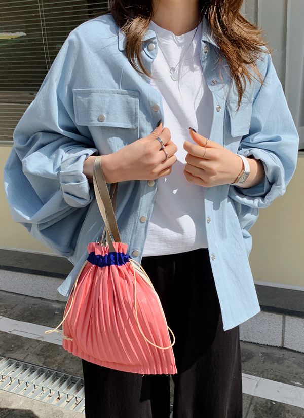 ボタンフラップポケットシャツジャケット