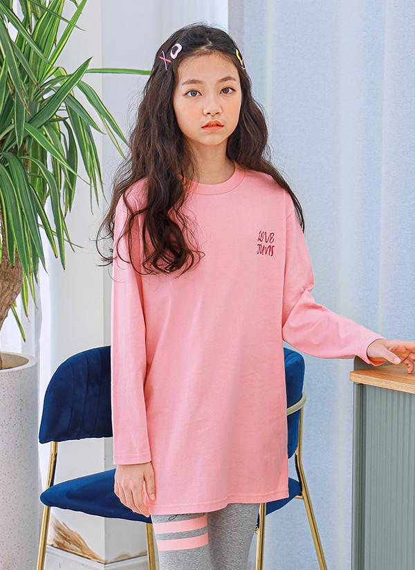 NT01ルーズロングTシャツ(ピンク)
