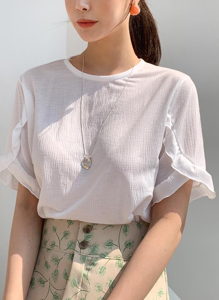 フリルスリーブTシャツ・全5色