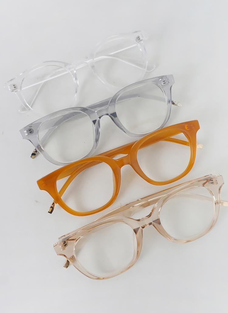 ウェリントンクリアフレーム眼鏡
