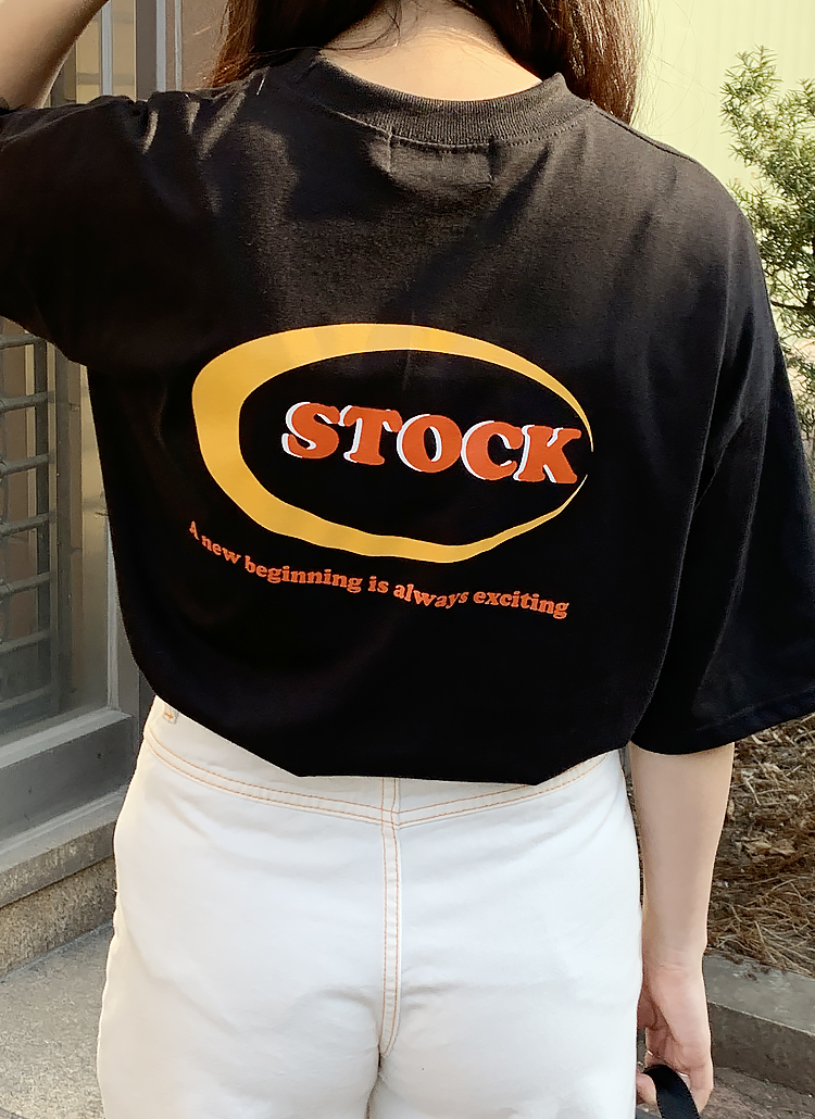 Stockロゴ半袖Tシャツ