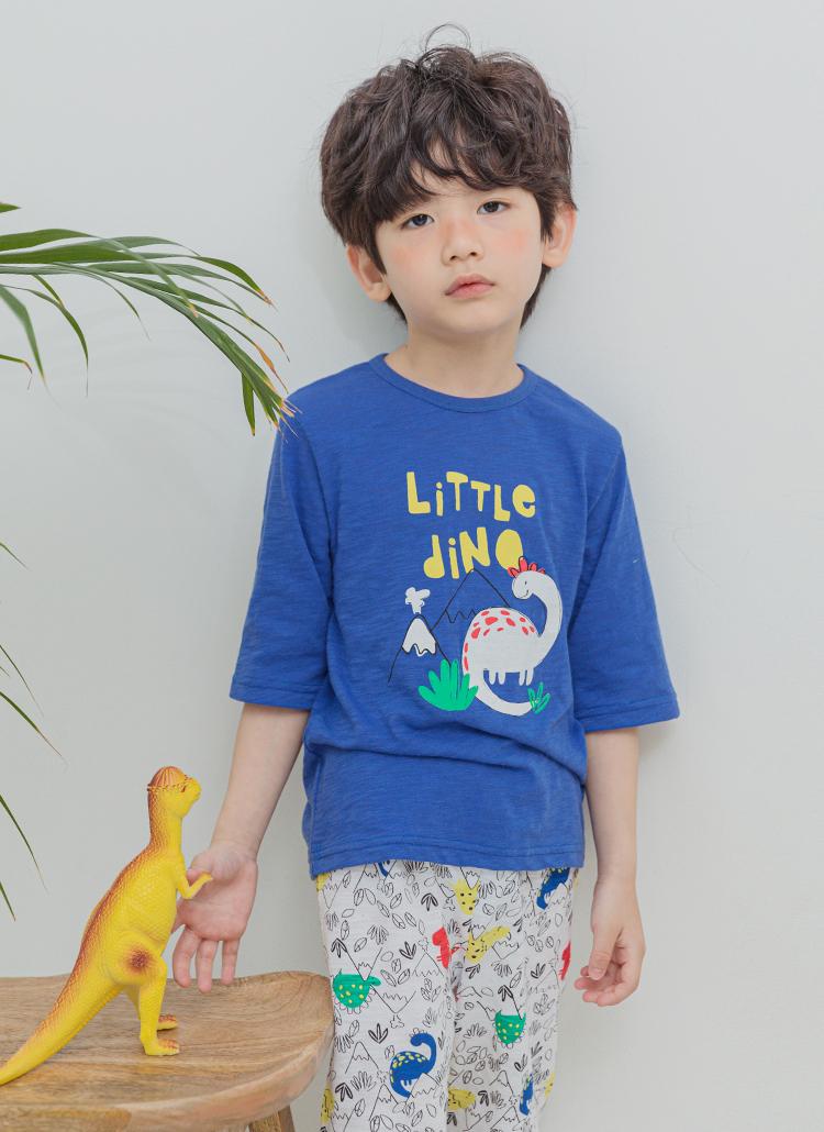 LITTLE DINAパジャマSET(ブルー)