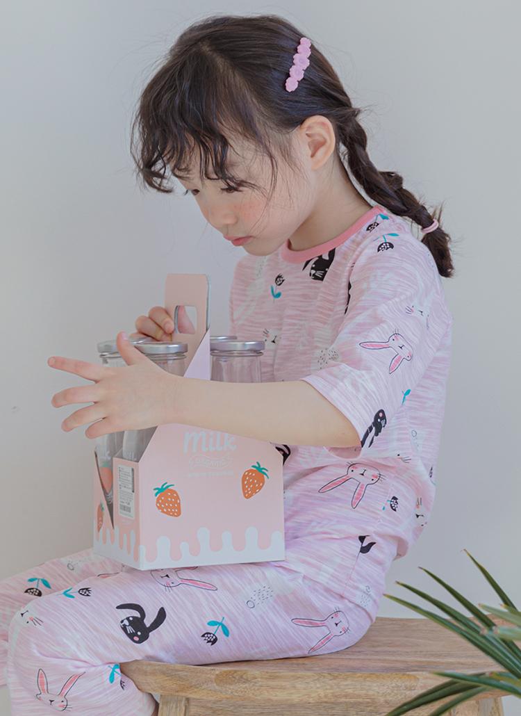 rabbitパジャマSET(ピンク)