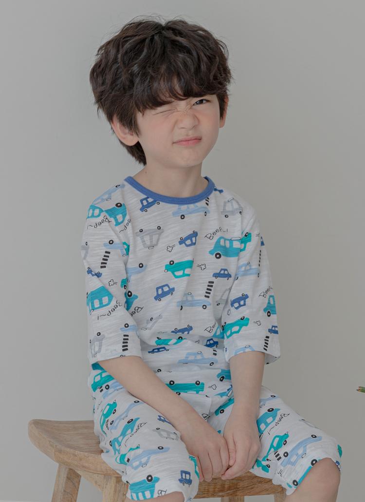 toy carパジャマSET(ブルー)