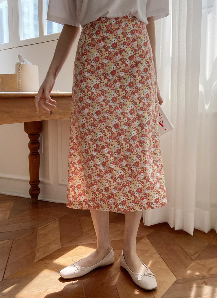 フラワーロングスカート