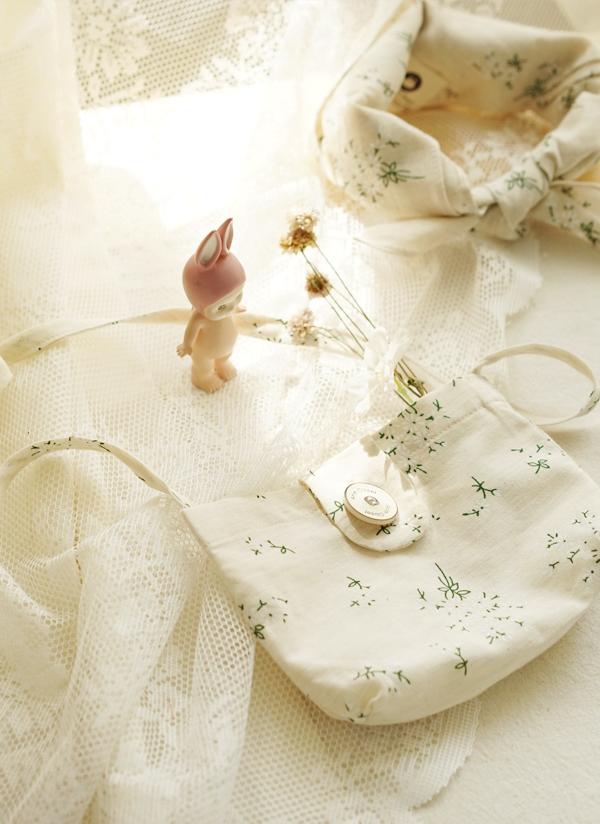 花柄コットンバッグ