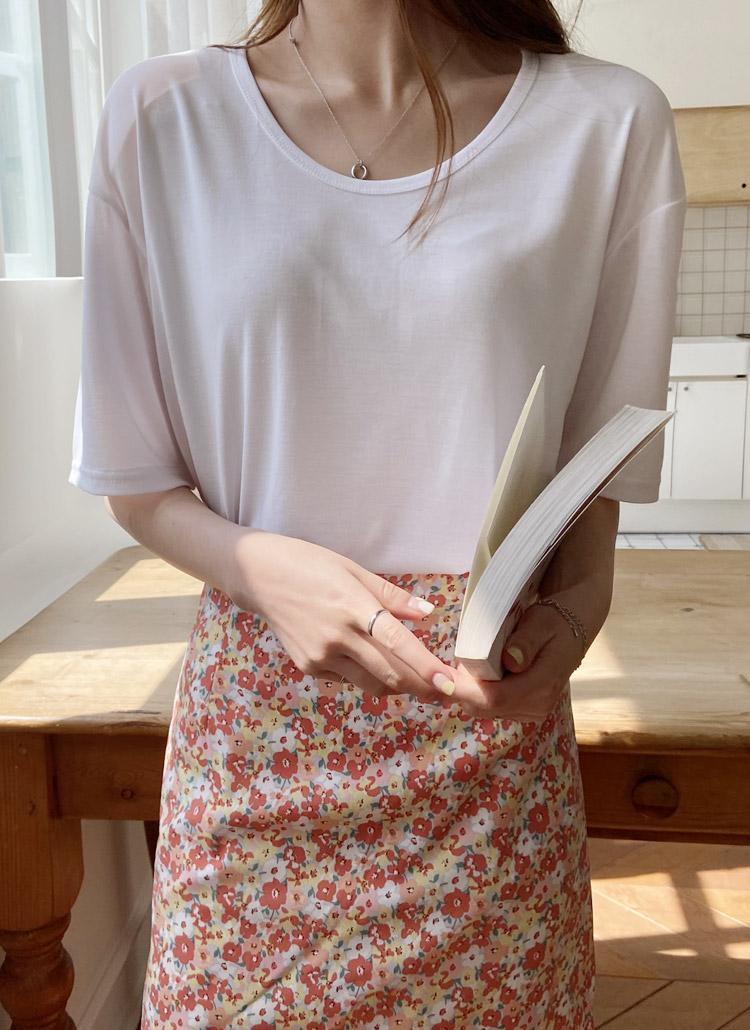 モダール混半袖Tシャツ