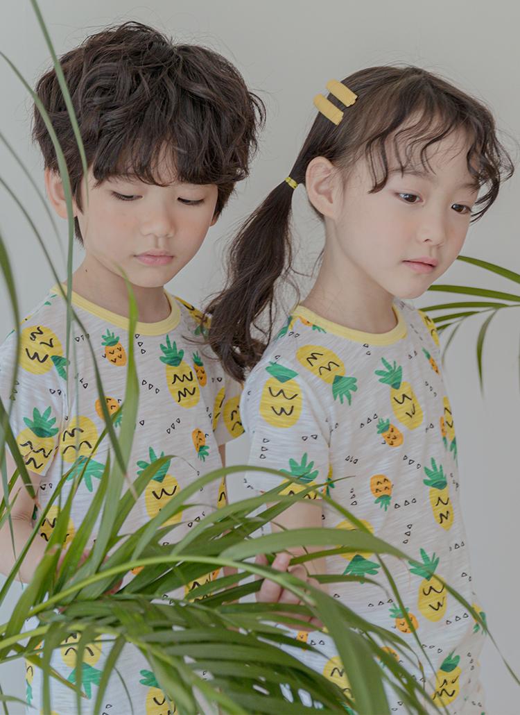パイナップル柄パジャマSET(イエロー)