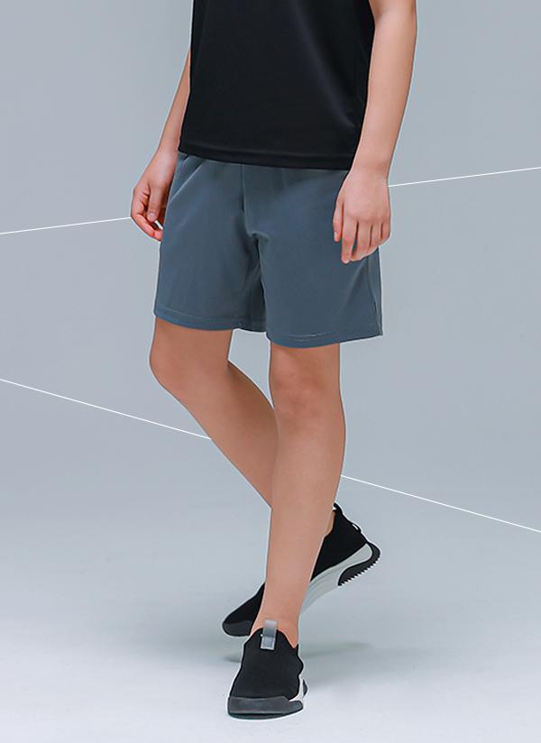 RP01シンプル4分丈パンツ(チャコール)