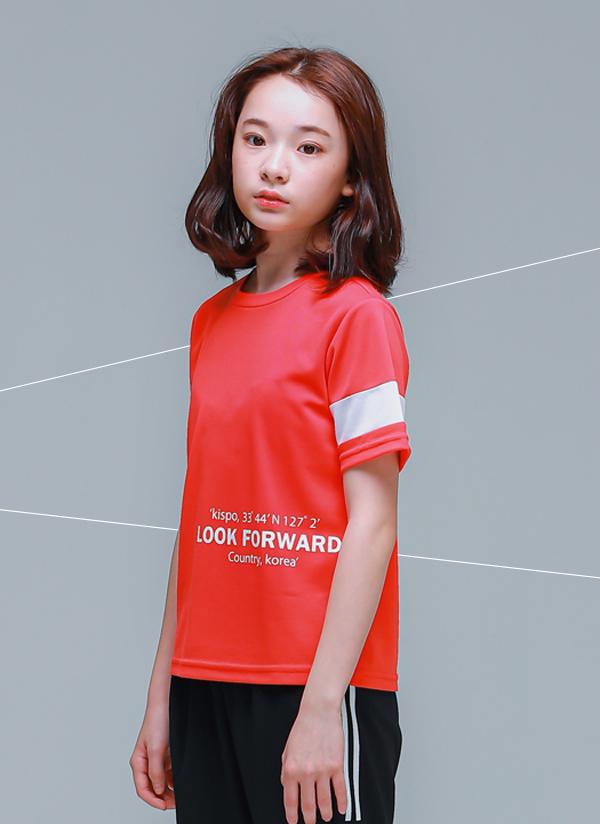 LOOK英字Tシャツ(ライトレッド)