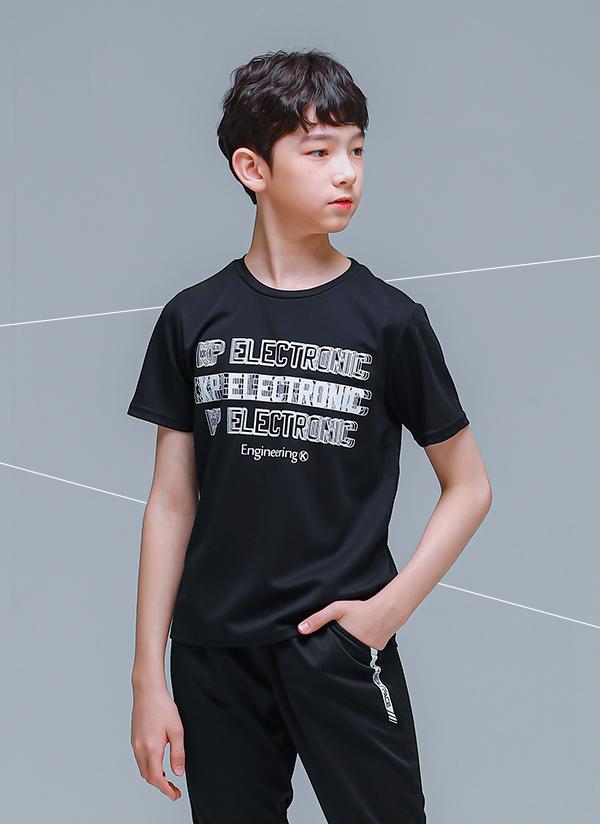 ELECTRONIC半袖Tシャツ(ブラック)