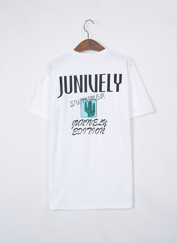 CactusロゴTシャツ(アイボリー)