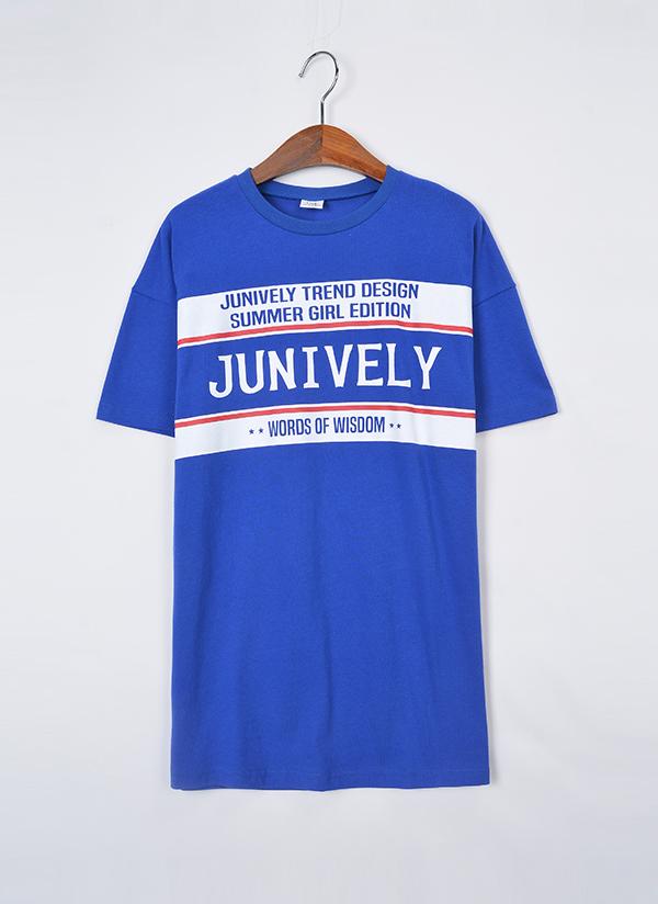 Junively半袖Tシャツ(ブルー)