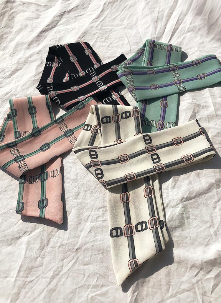 パターンツイリースカーフ・全4色