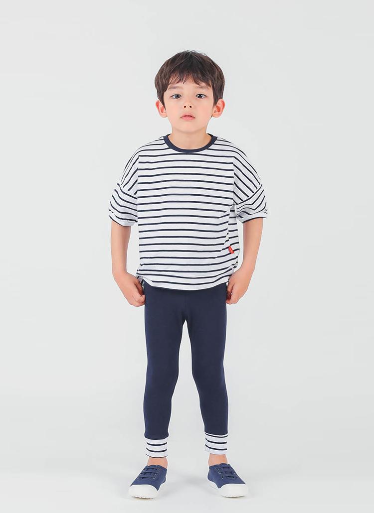 ボーダーポイントTシャツ&パンツSET