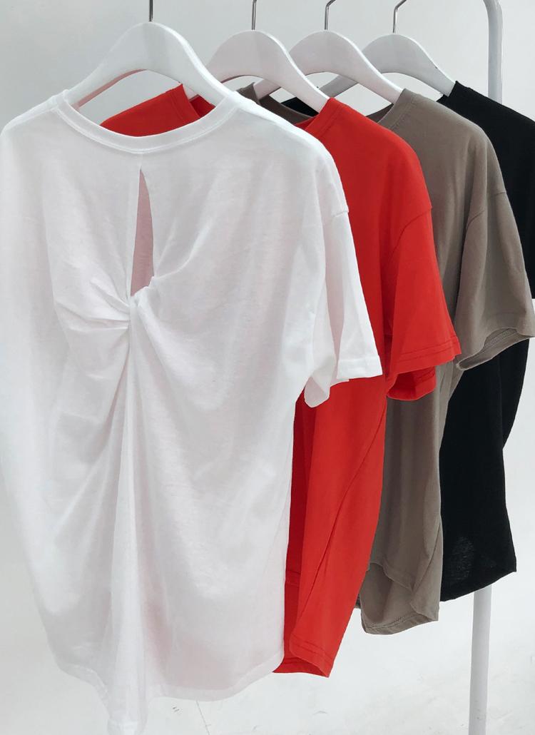 バックツイストTシャツ・全4色