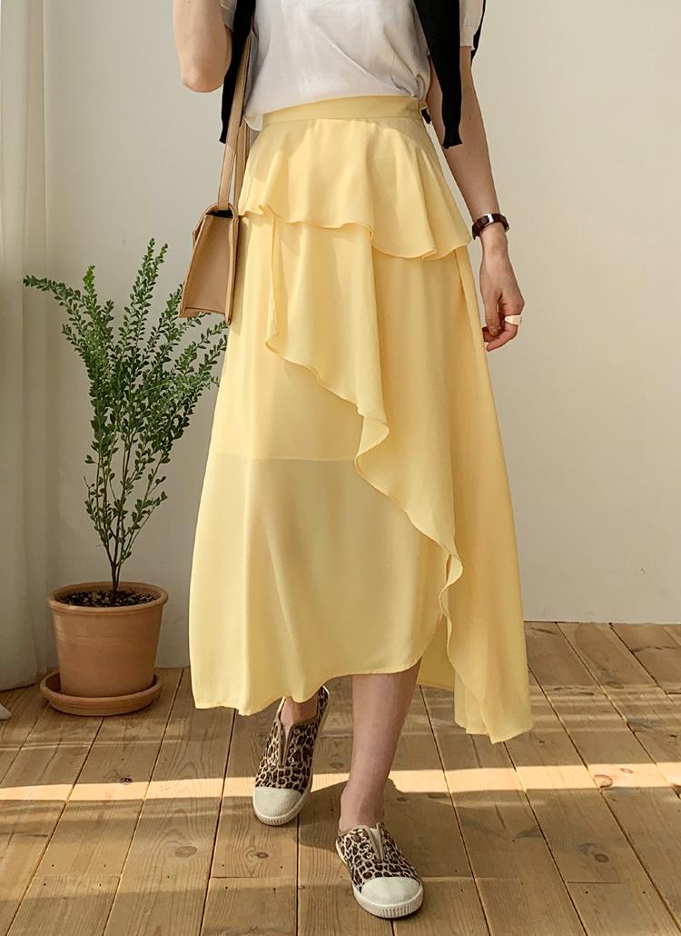 ラッフルフレアスカート・全3色