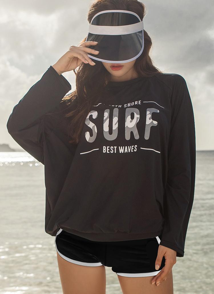 SURFオーバーラッシュガードTシャツ