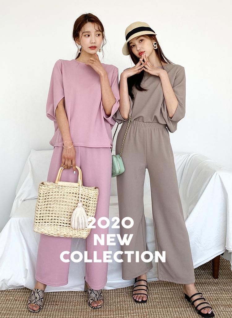 ドルマンTシャツ&パンツSET・全3色