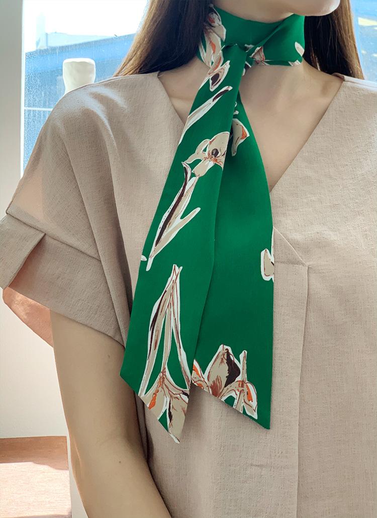 花柄ツイリースカーフ・全4色