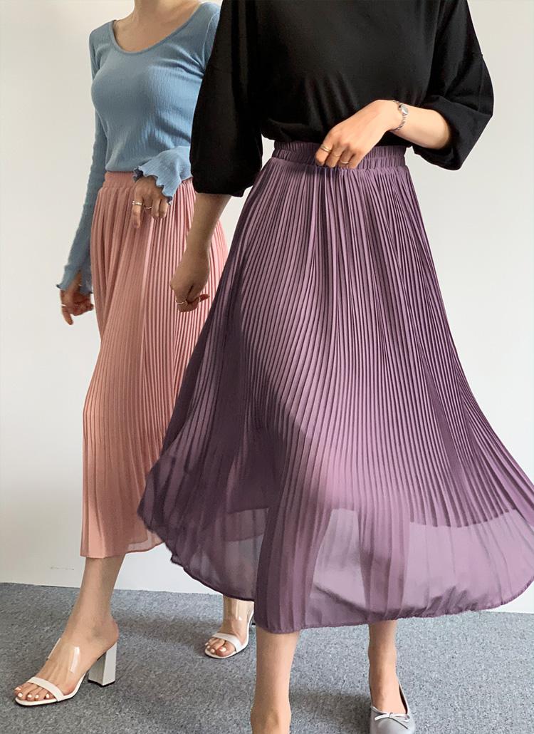 イージープリーツスカート・全5色