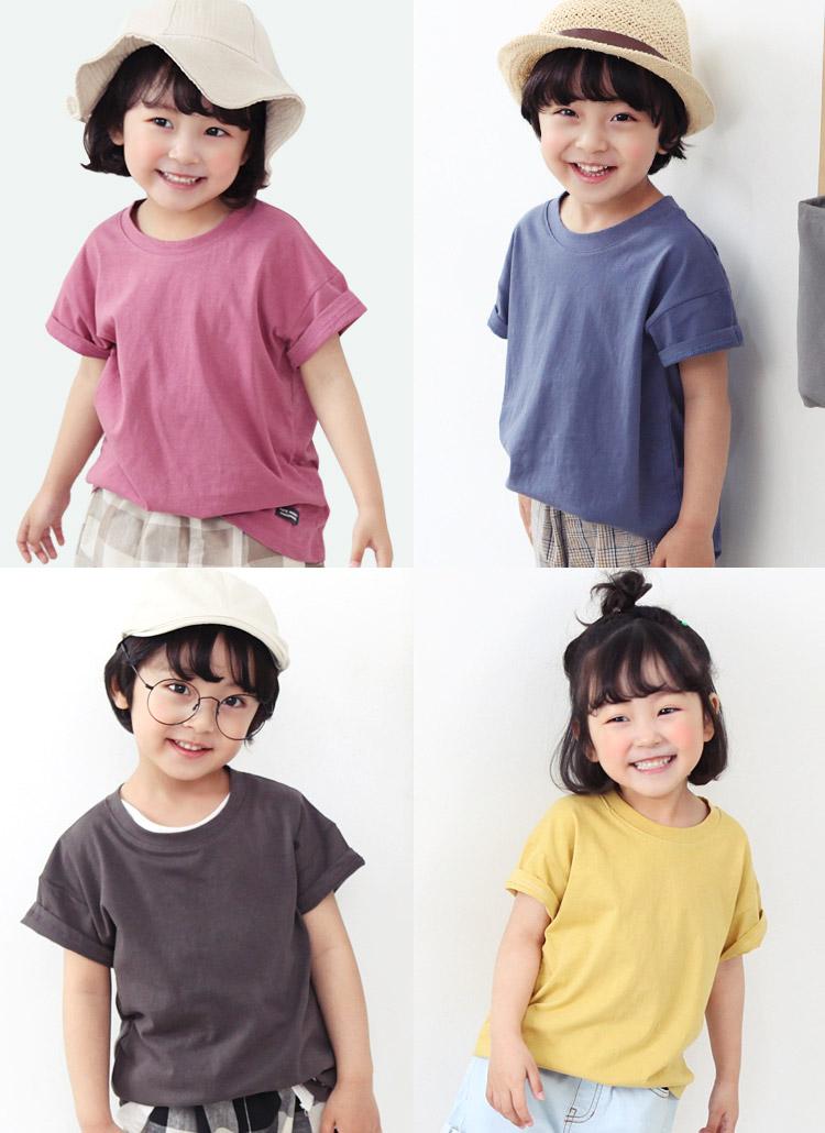 ラウンドネックパッチTシャツ