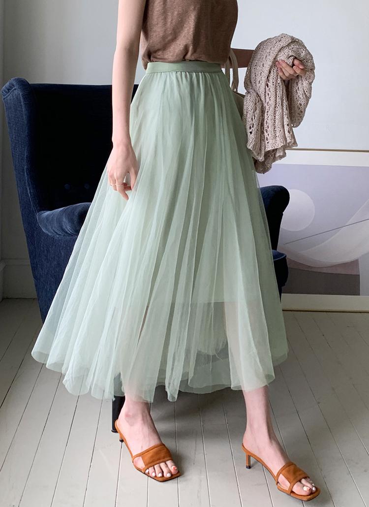 チュールフレアスカート・全5色