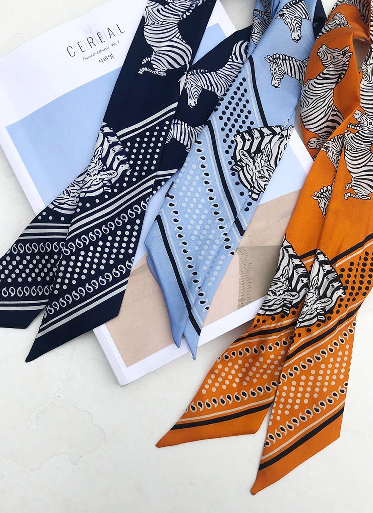 ゼブラパターンスカーフ・全3色