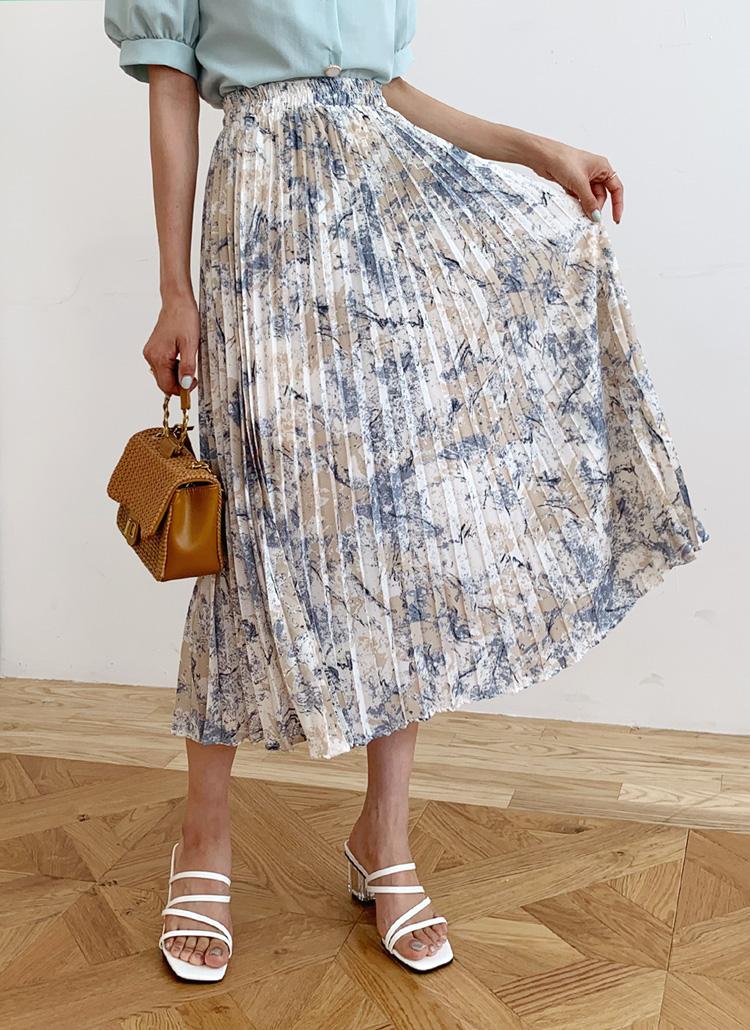 パターンプリーツスカート・全3色