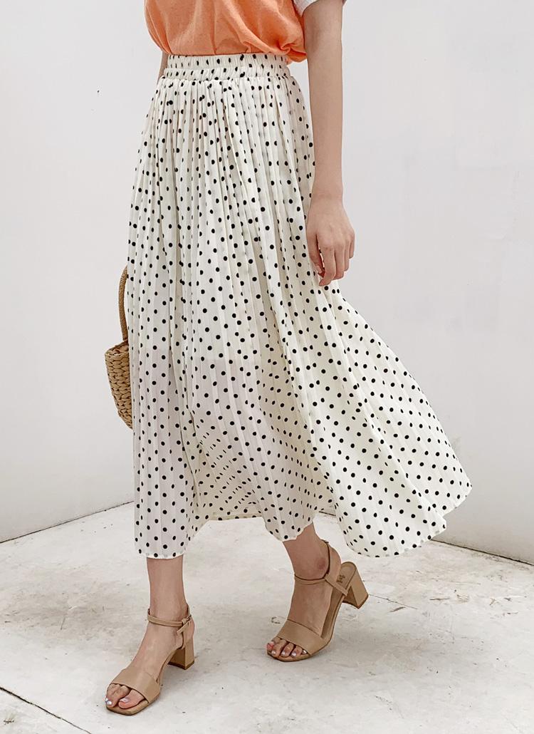 プリーツドットスカート・全2色