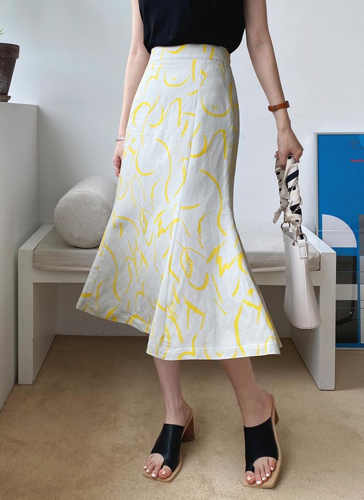 ユニークパターンスカート・全3色