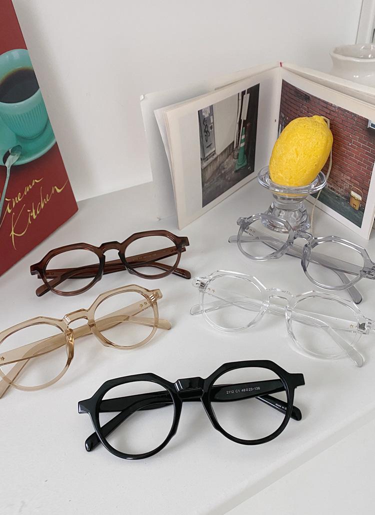 ボールドフレームメガネ・全5色