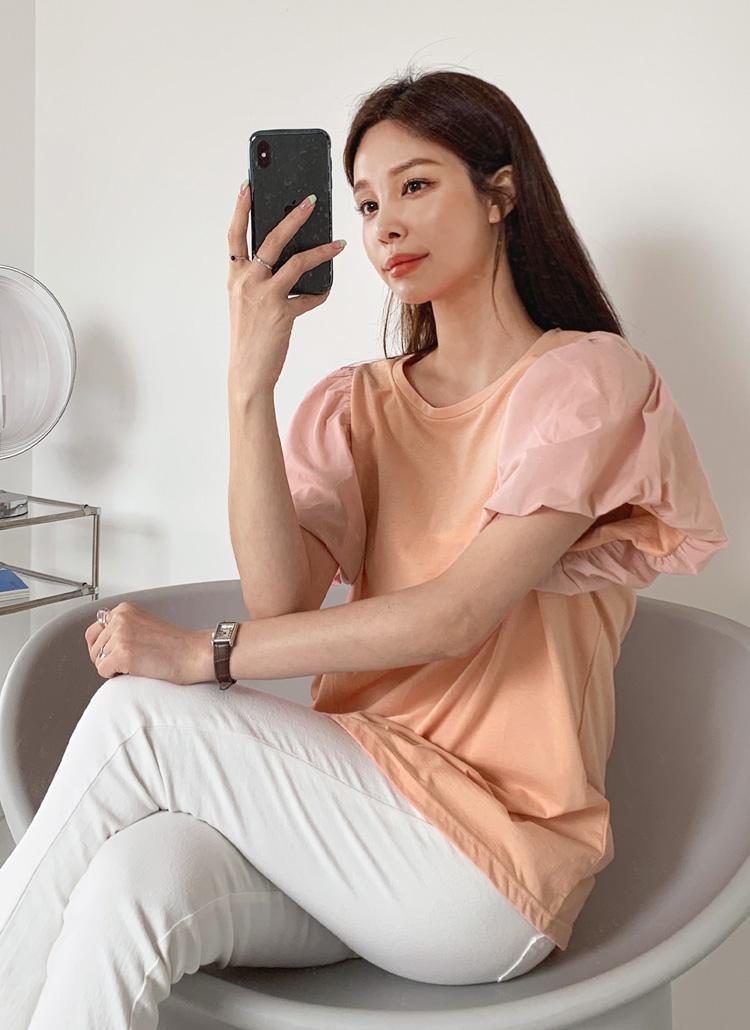 バルーンスリーブTシャツ・全3色