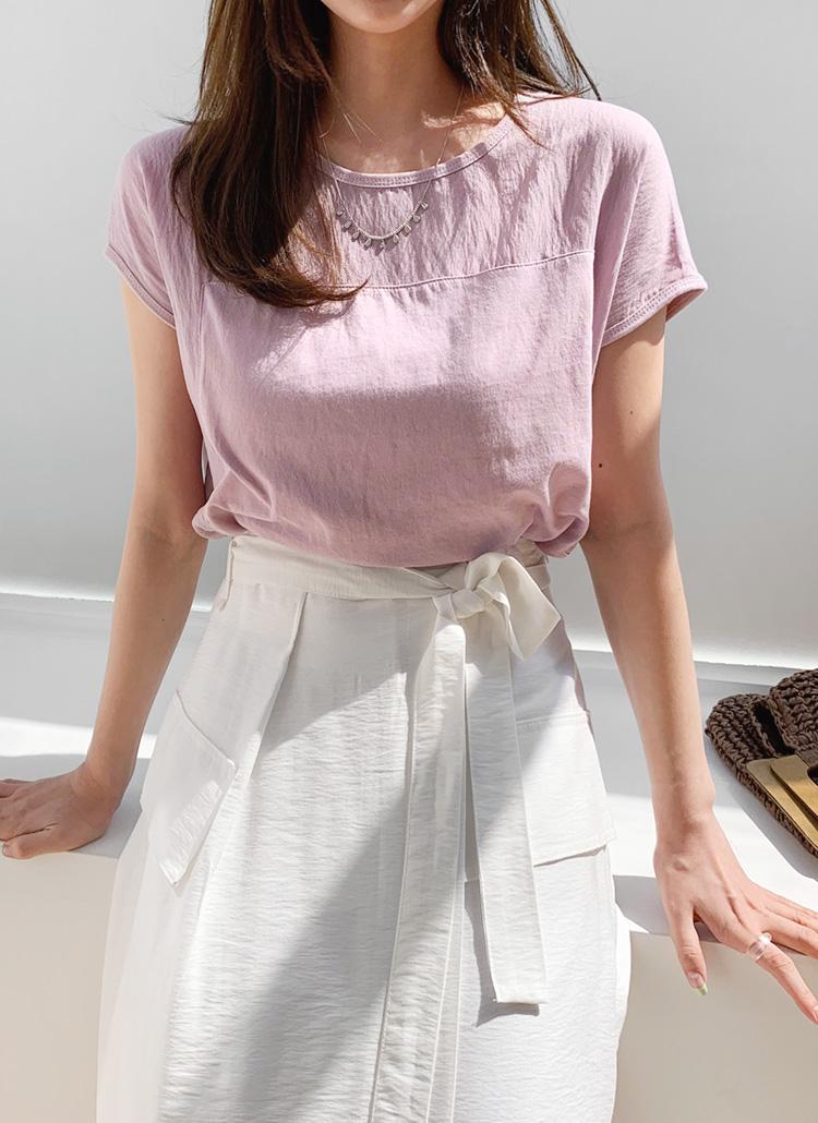シアーコントラストTシャツ・全6色