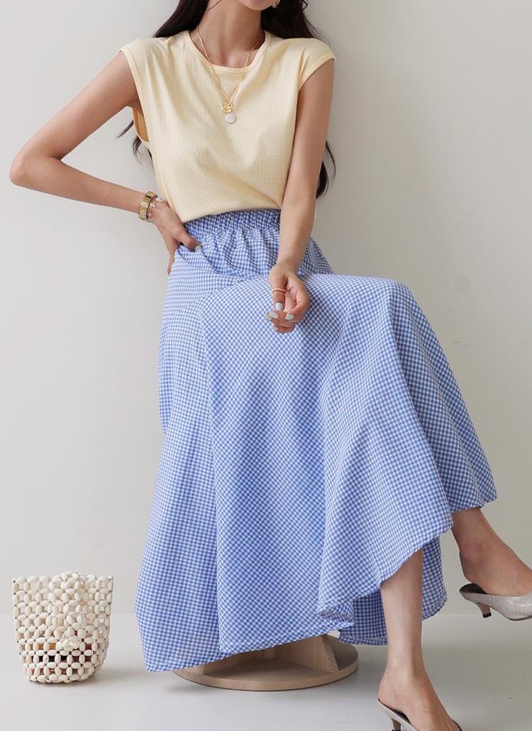 チェックフレアスカート・全3色