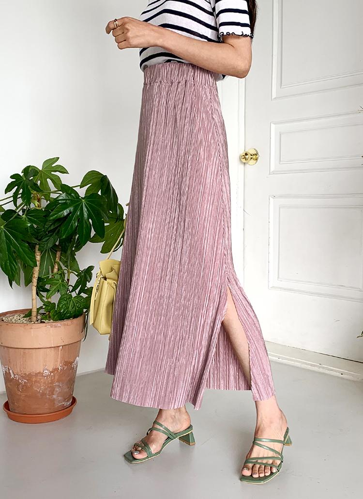 プリーツスリットスカート・全3色