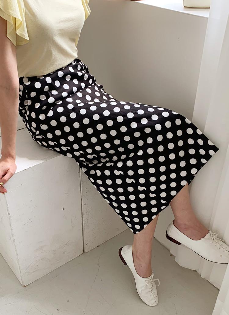 ドットHラインスカート・全2色