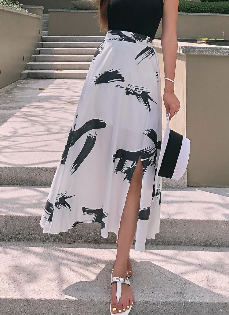 スリットプリントスカート