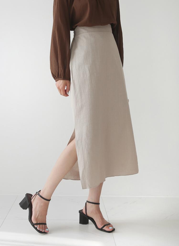 バックゴムHラインスカート・全5色