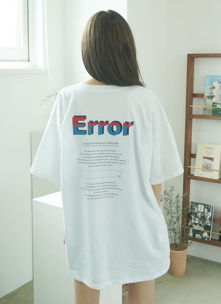 ErroバックプリントTシャツ