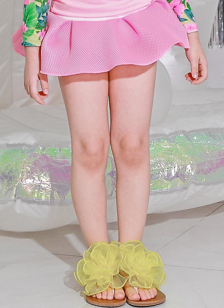 メッシュスイムスカートパンツ