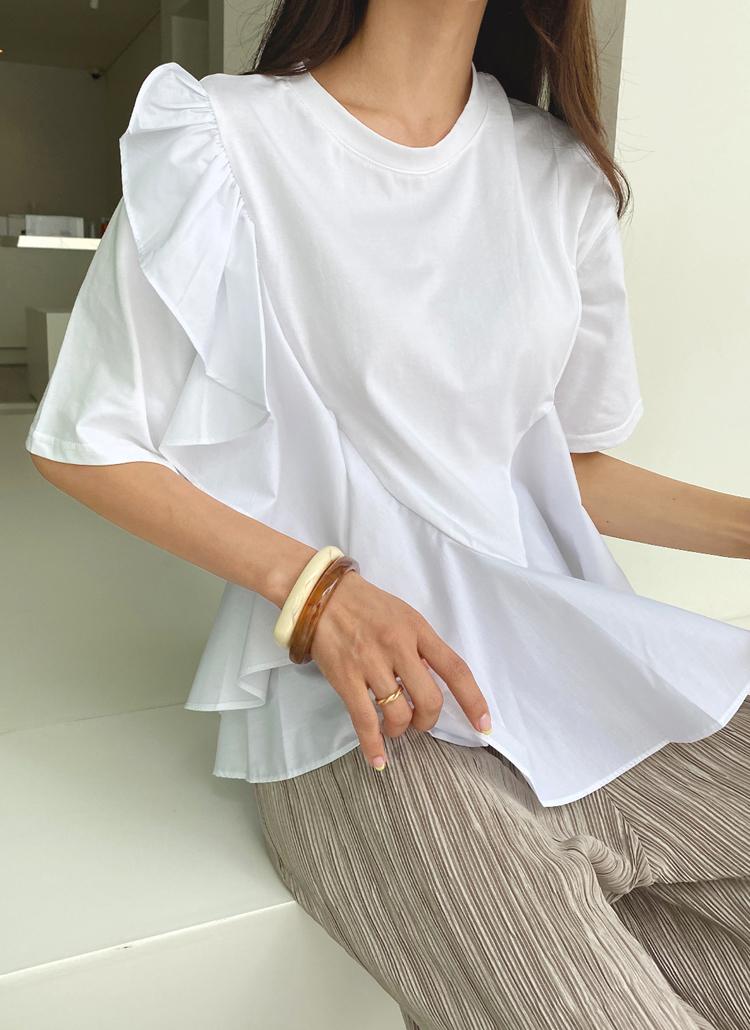 ラッフルTシャツ・全2色