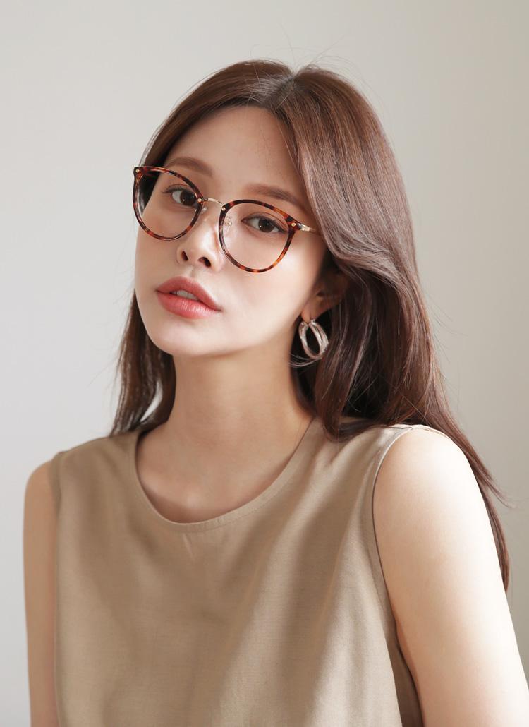 メタルコントラストメガネ・全4色