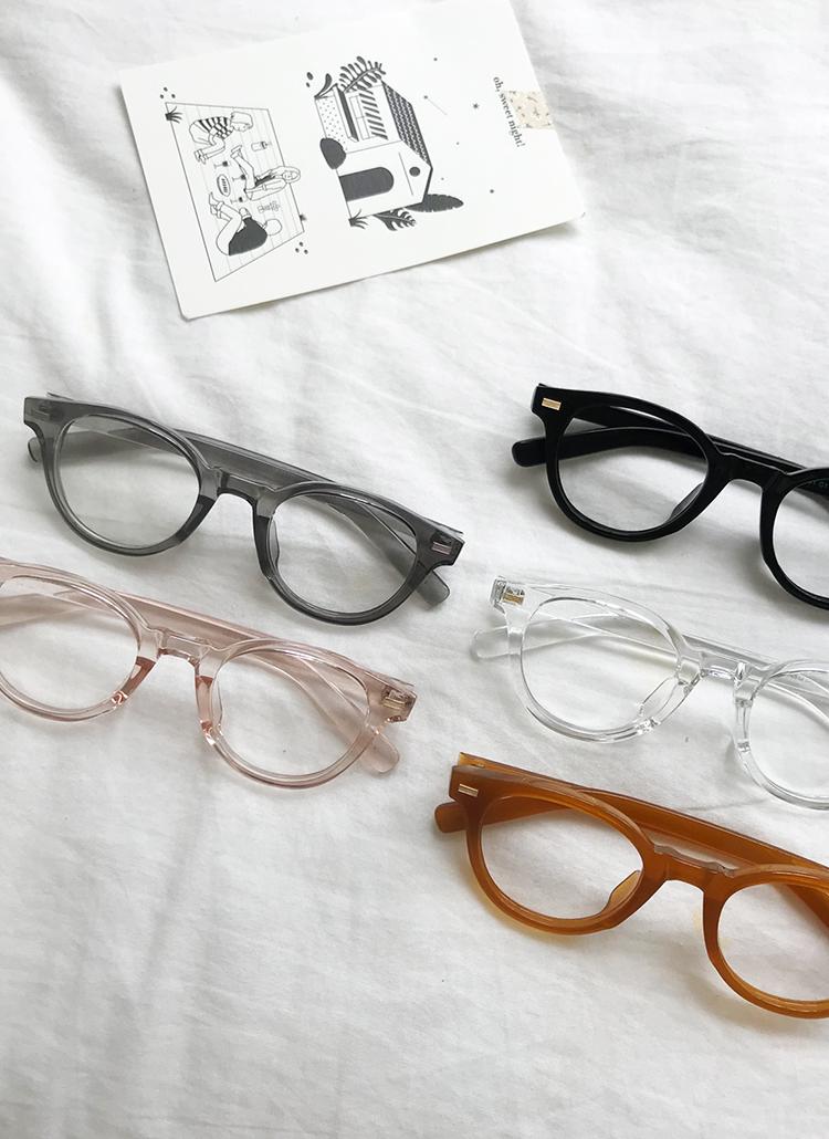 ラウンドフレームメガネ・全5色