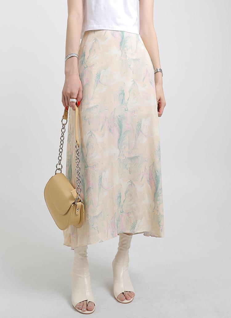 パターンロングスカート