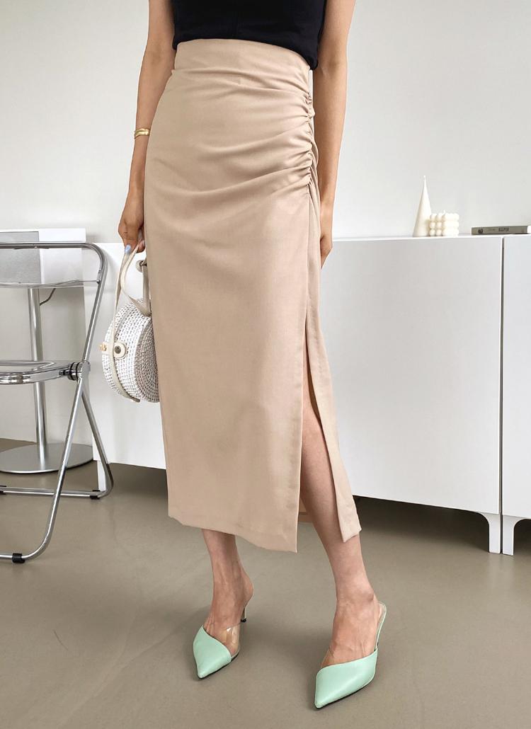 サイドギャザースカート・全2色