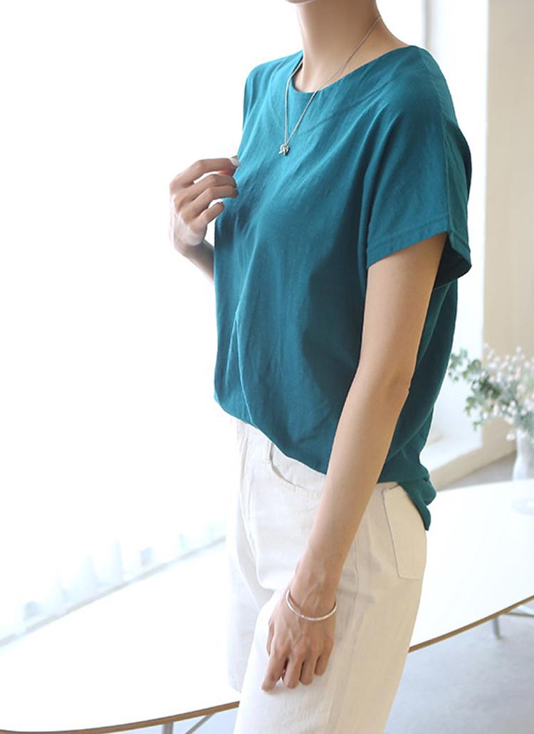 キャップスリーブ半袖Tシャツ